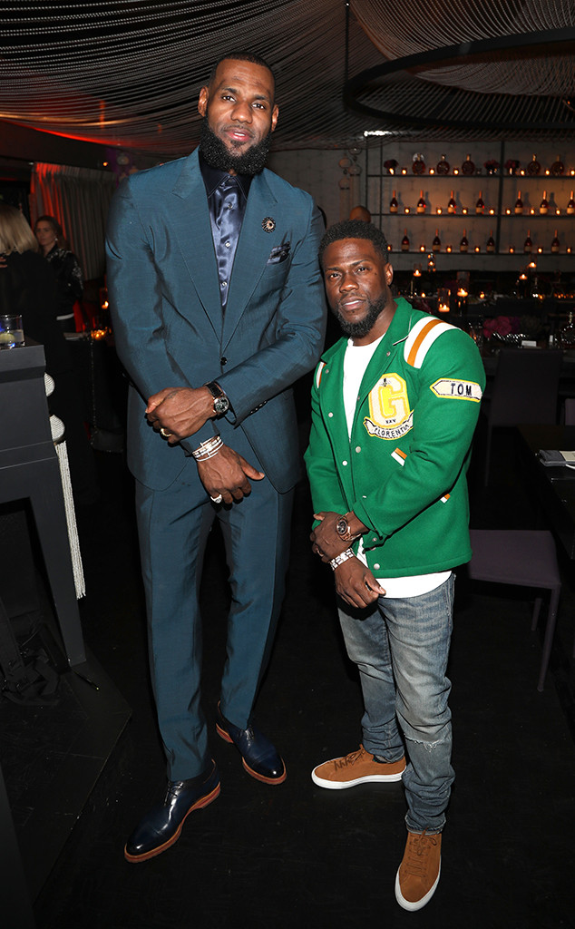 Kevin Hart, LeBron James, 2018 NBA All-Star Weekend Party