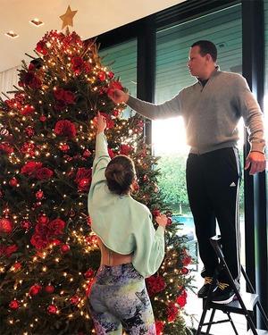 Jennifer Lopez, Alex Rodriguez, Christmas 2018