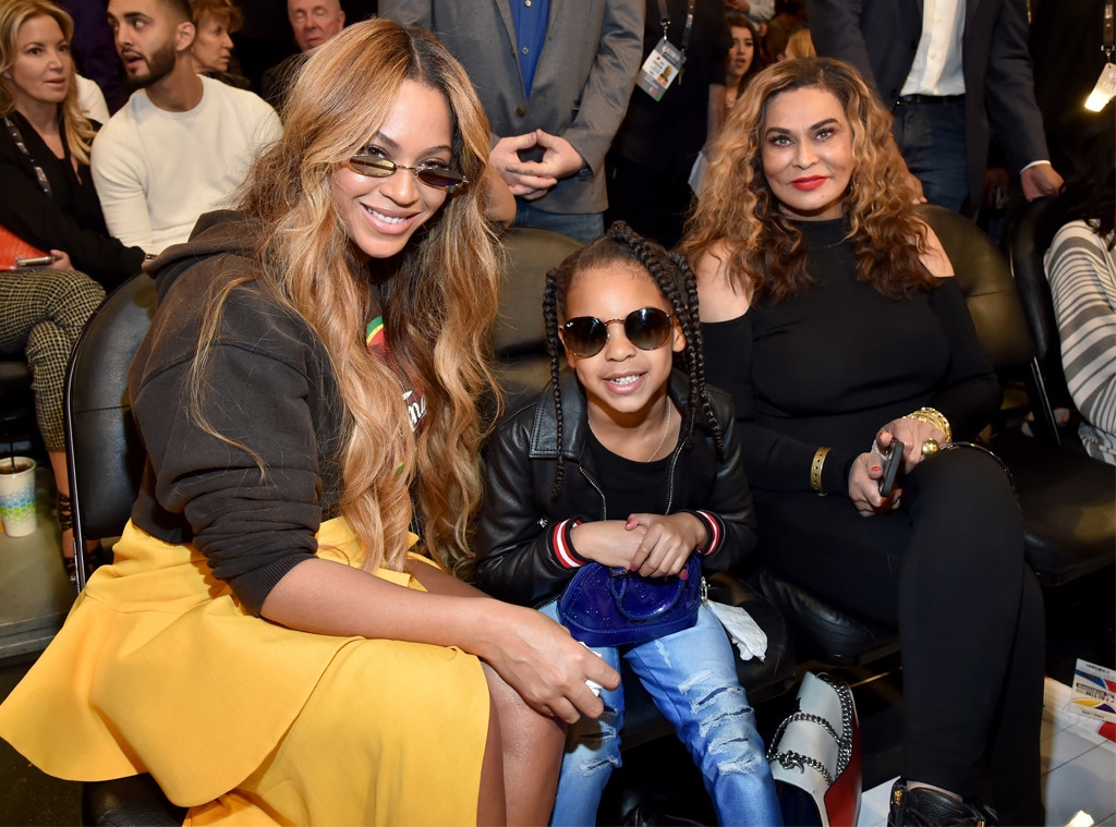 Beyonce, Blue Ivy Carter, Tina Knowles, NBA All-Star Game 2018