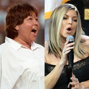 Roseanne Barr, Fergie, National Anthem