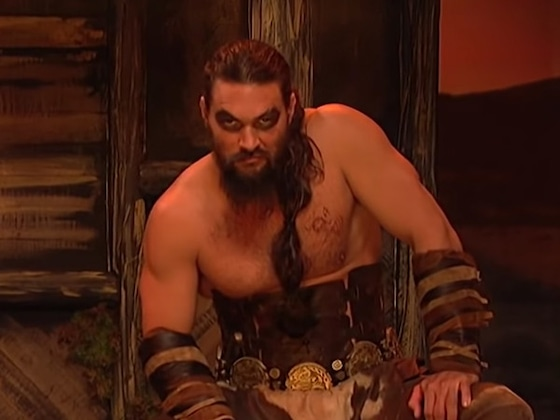 Jason Momoa Plays <i>Game of Thrones</i>' Khal Drogo Again on <i>SNL</i>