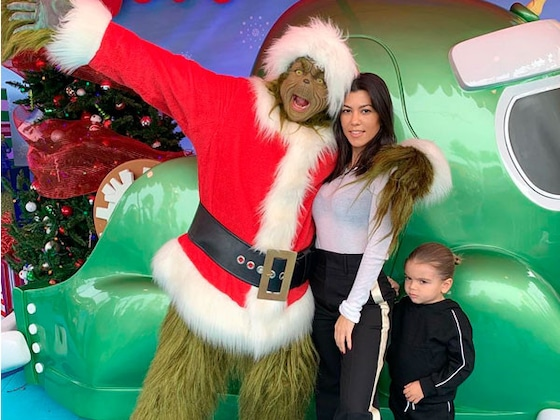 Kourtney Kardashian and Her Kids Met The Grinch and They Weren't Amused