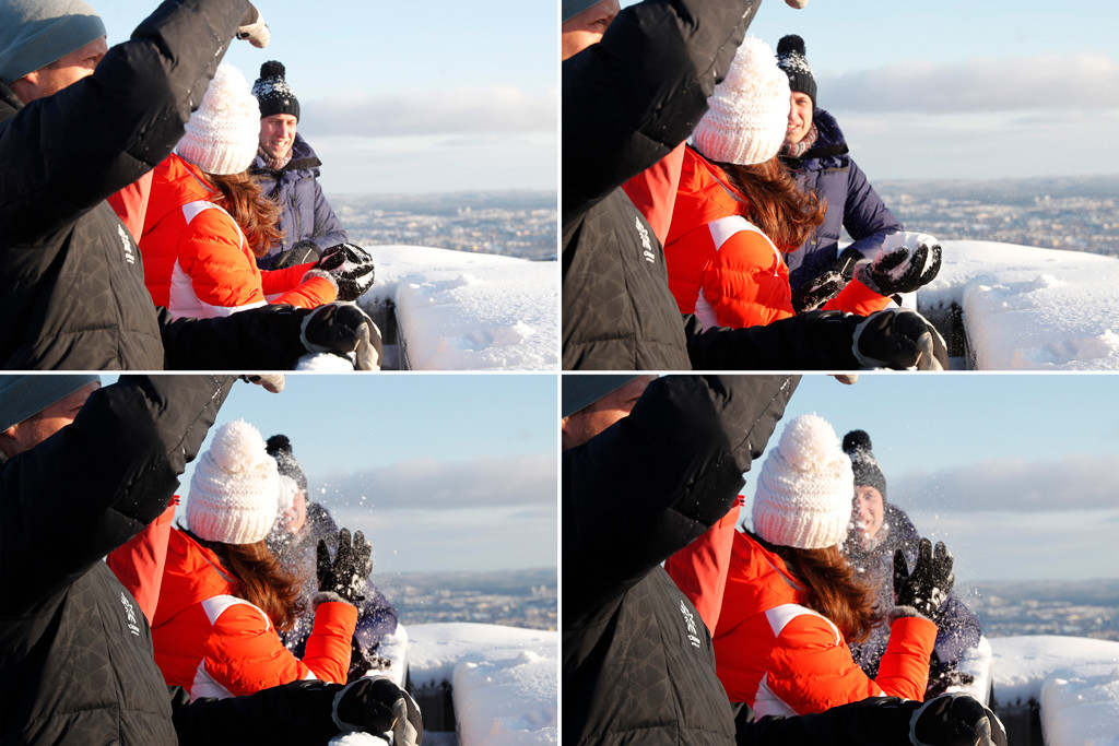 Kate Middleton, Prince William, Snowball Fight