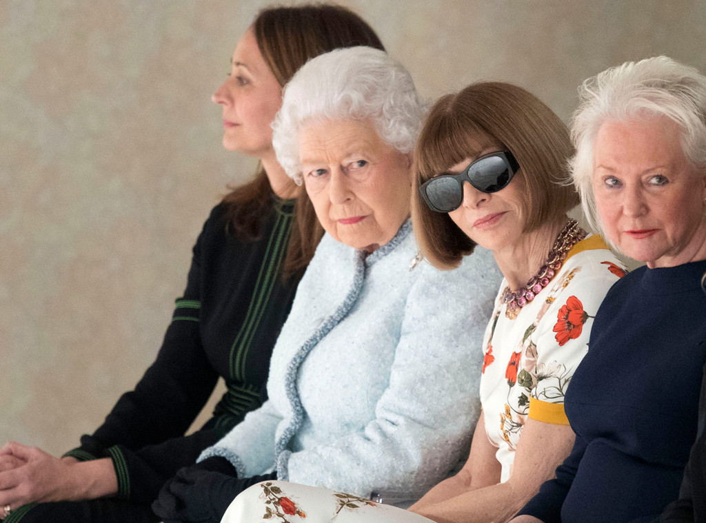 Queen Elizabeth Sits Front Row At London Fashion Week Next