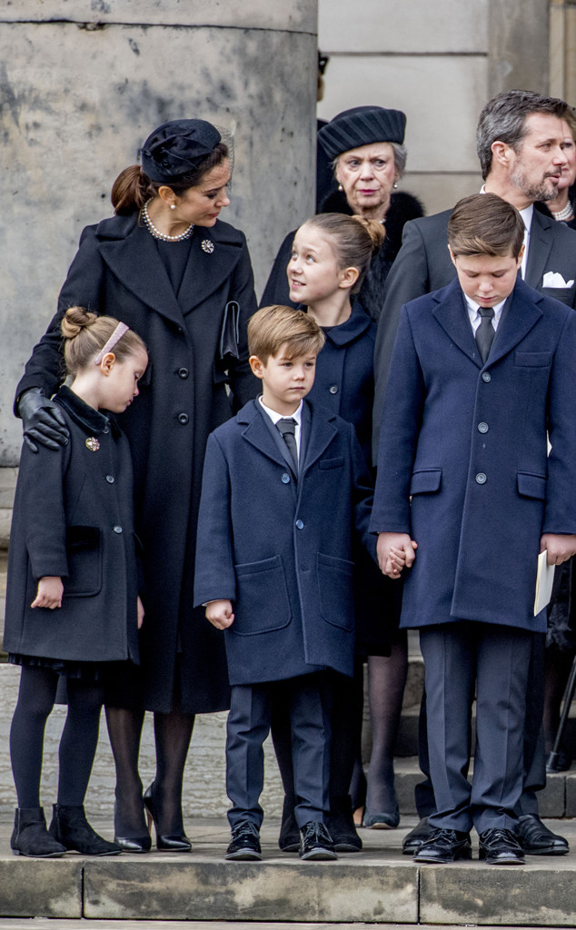 Princess Josephine, Crown princess Mary, Prince Henrik Funeral