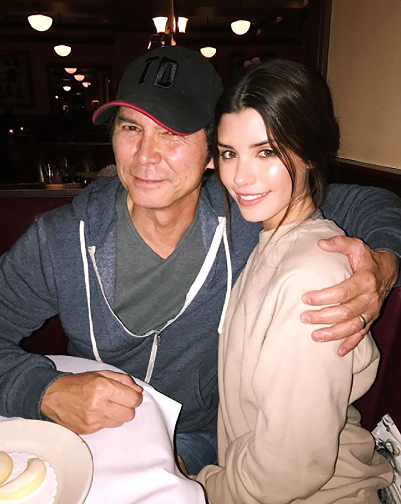 Foto di Lou Diamond Phillips & il suo Figlia Grace Moorea Phillips