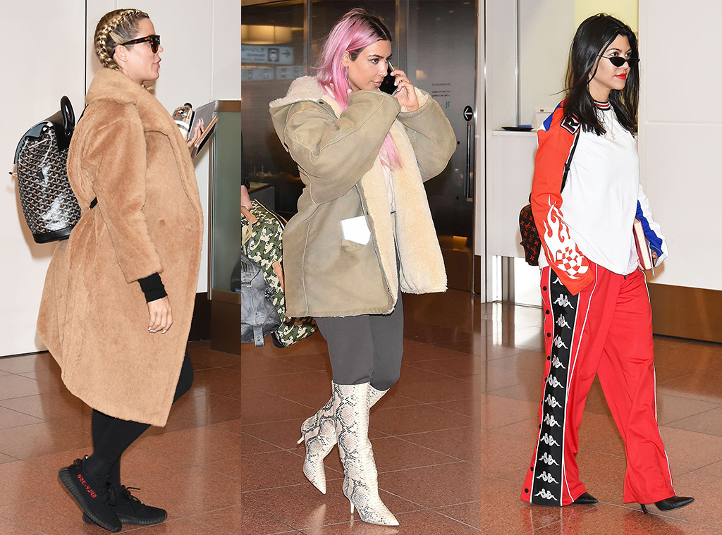 b6ae94b7f3c08 Pregnant Khloe Kardashian Hits up Tokyo With Kim and Kourtney for ...
