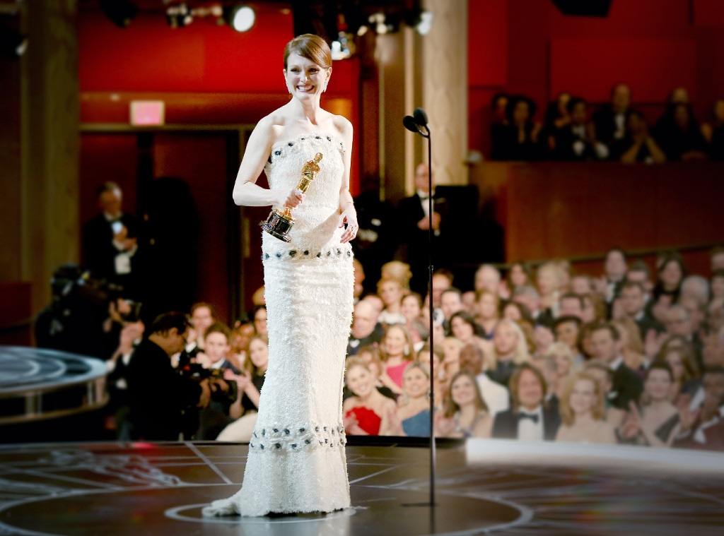 ESC: Julianne Moore, Best Actress Oscar Dresses