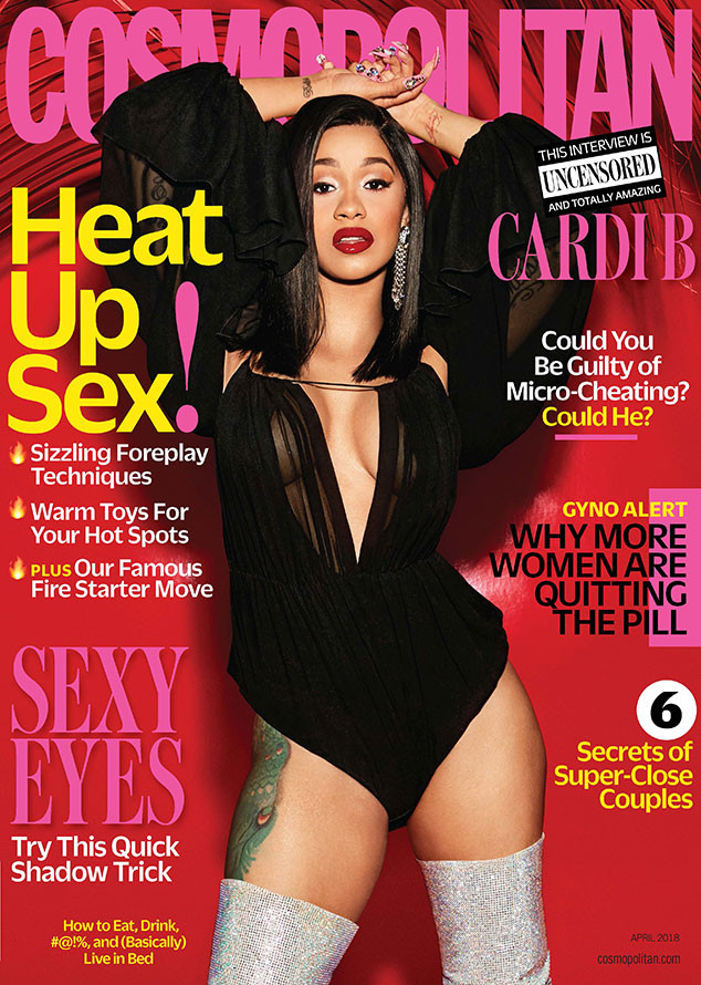 Cardi B, Cosmopolitan, April 2018