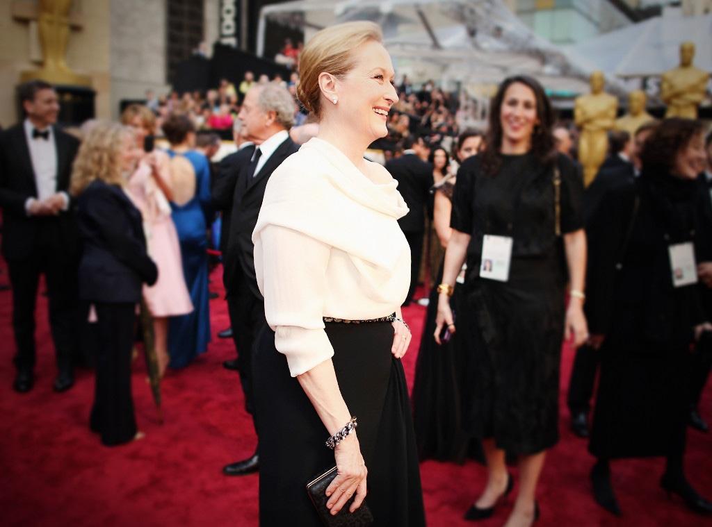 ESC: Meryl Streep, Oscars, Dresses, 2014