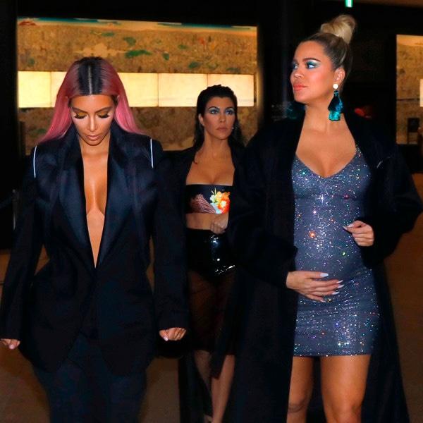 Kim Kardashian, Kourtney Kardashian, Khloe Kardashian, WEB EMBARGO: NO USE UNTIL AFTER 8:30 PM PST 2/28/18