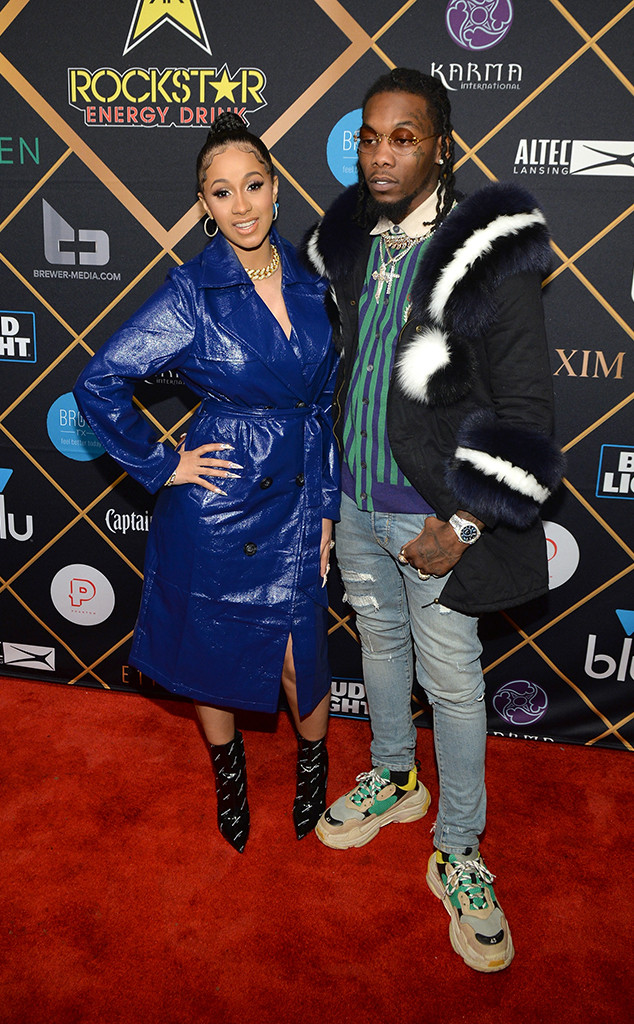 Cardi B, Offset, 2018 Pre-Super Bowl Party, Maxim Party