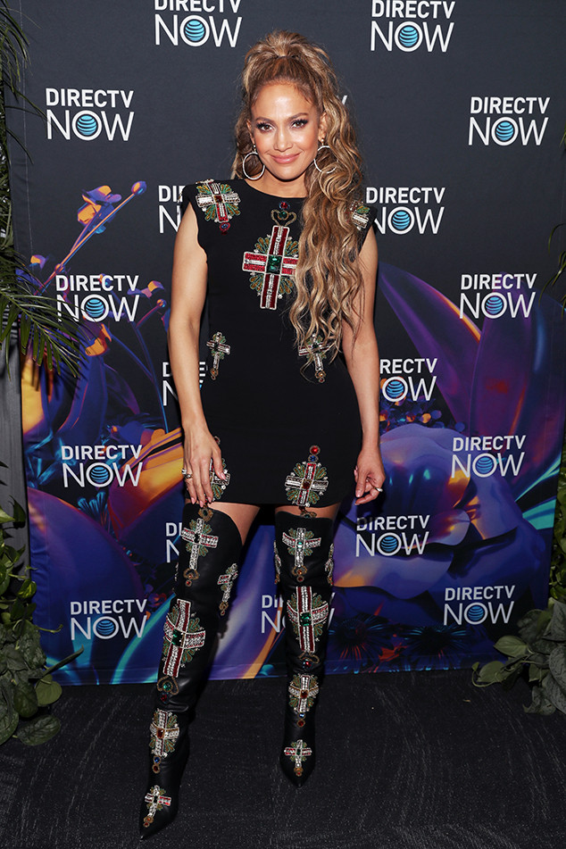 Jennifer Lopez, 2018 DIRECTV NOW Super Saturday Night Concert, Pre-2018 Super Bowl Party