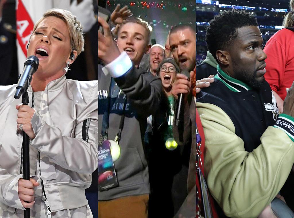 Pink, Justin Timberlake, Kevin Hart, Super Bowl