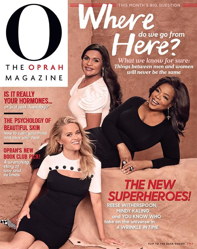 Oprah Winfrey, Reese Witherspoon, Mindy Kaling, O the Oprah Magazine