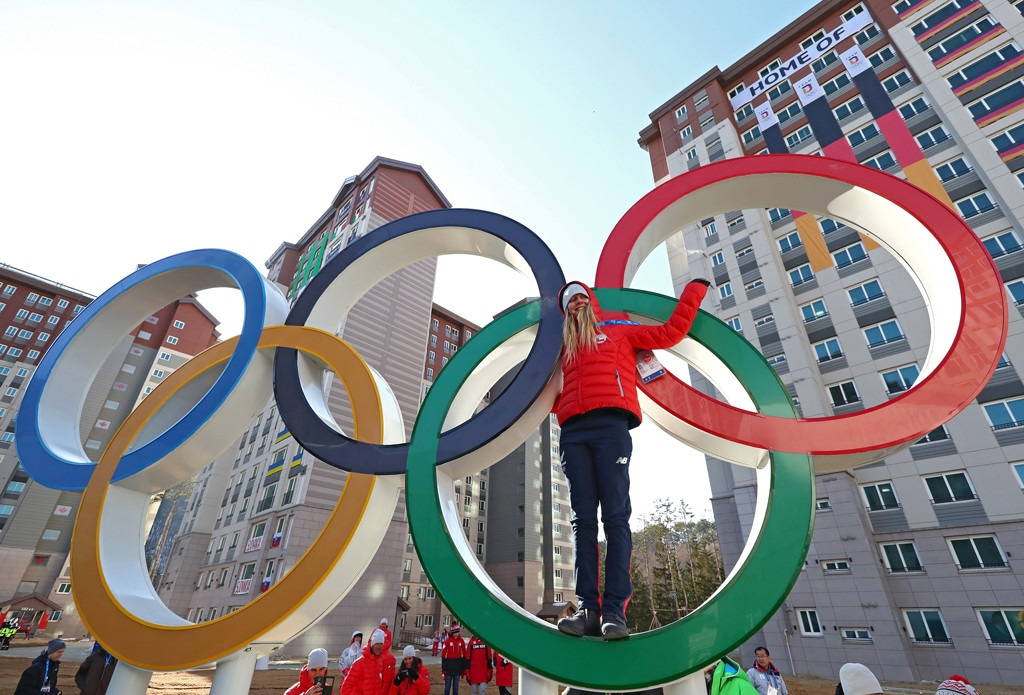 Pyeongchang, Olympic Villages, Olympic Rings, Exterior