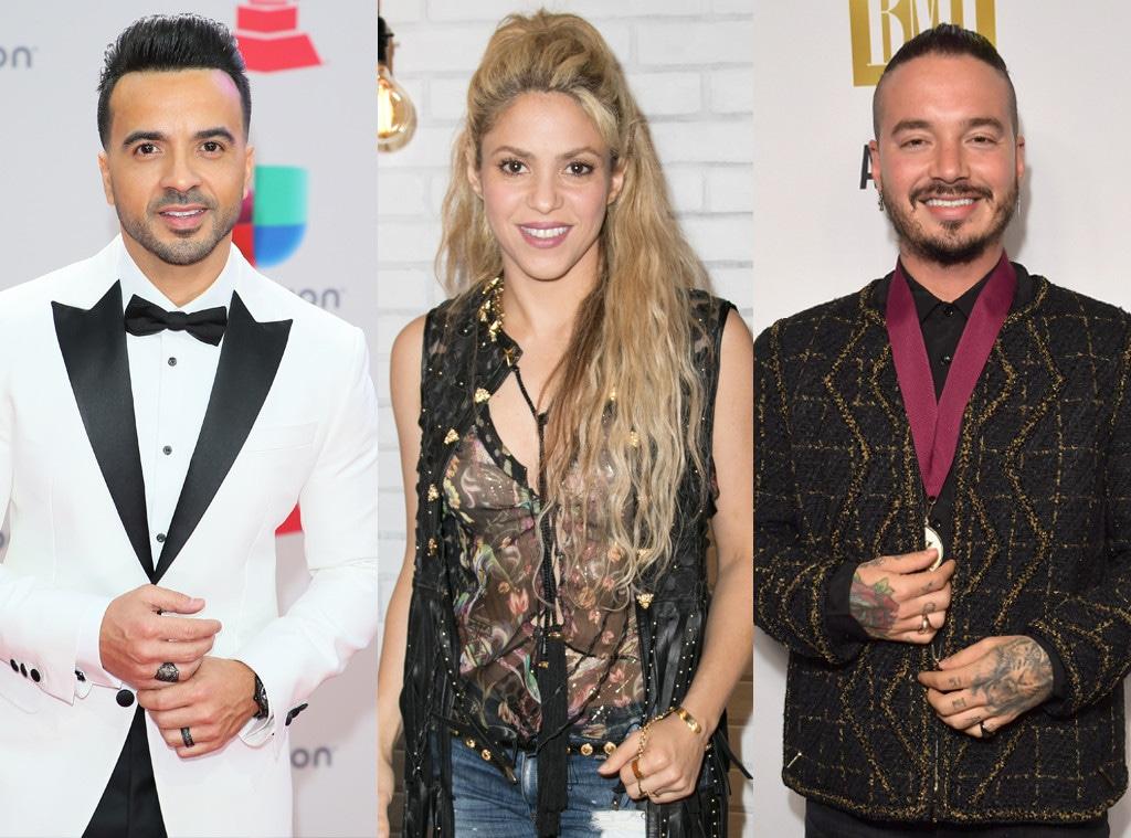 J Balvin, Shakira, Luis Fonsi