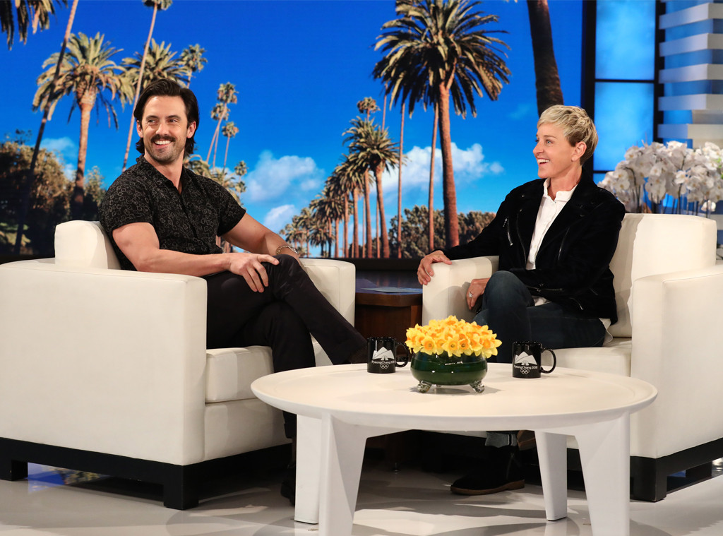 Milo ventimiglia makes it rain on the ellen degeneres show e news - Ellen show videos ...