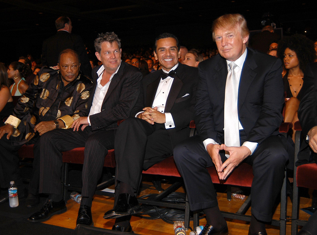 Quincy Jones, David Foster, Mayor Antonio Villaraigosa, Donald Trump