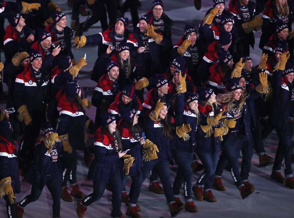 Team USA, Opening Ceremony, 2018 Olympics