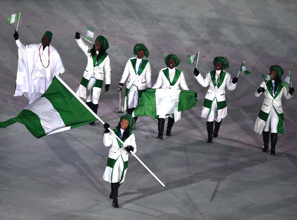 Nigeria, 2018 Winter Olympics, Opening Ceremony