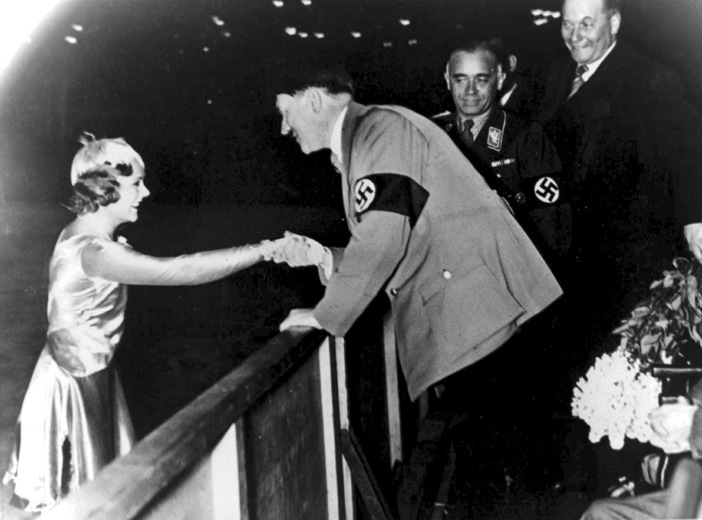 Sonja Henie, Adolf Hitler, 1936 Winter Olympics