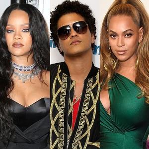 Beyonce, Bruno Mars, Rihanna, Chris Brown