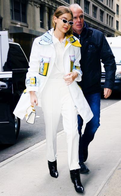 Bella Hadid Fashion Week  Leather Pantz Nyc