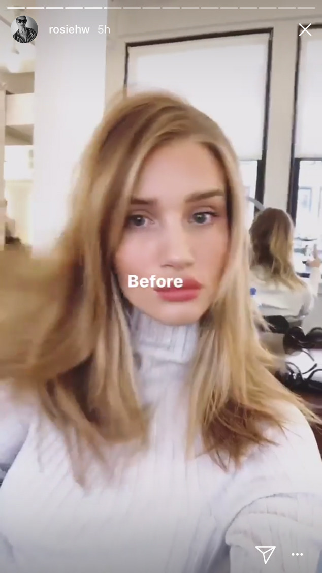 Rosie Huntington Whiteley S Before And After Photos Prove