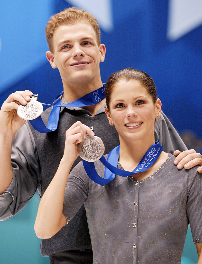 Jamie Sale, David Pelletier, silver medals, 2002 Winter Olympics