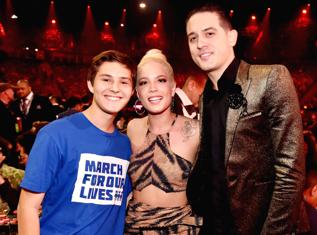 Alex Moscou, Halsey, G-Eazy, 2018 iHeartRadio Music Awards, Winners