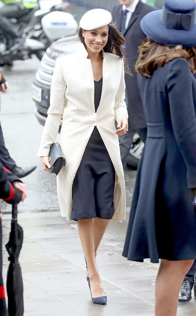 And Tights, Please -  While not an official royal requirement, royal women are encouraged to preserve their modesty by wearing nude tights, aka pantyhose or nylons, with their dresses or skirts.   Meghan has followed this protocol , but has also been like,  This is the 21st century and  you're going to see my legs  .