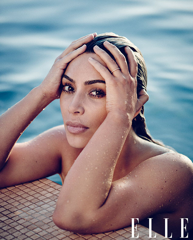 Kim Kardashian, Elle April 2018