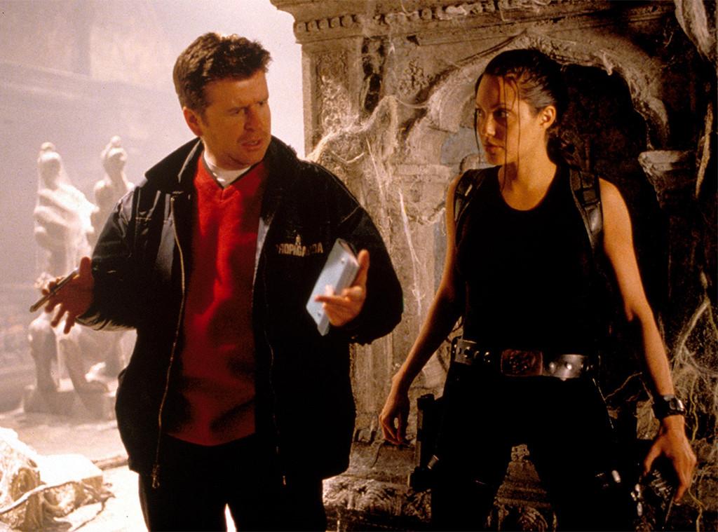 Lara Croft Tomb Raider, Angelina Jolie On the set