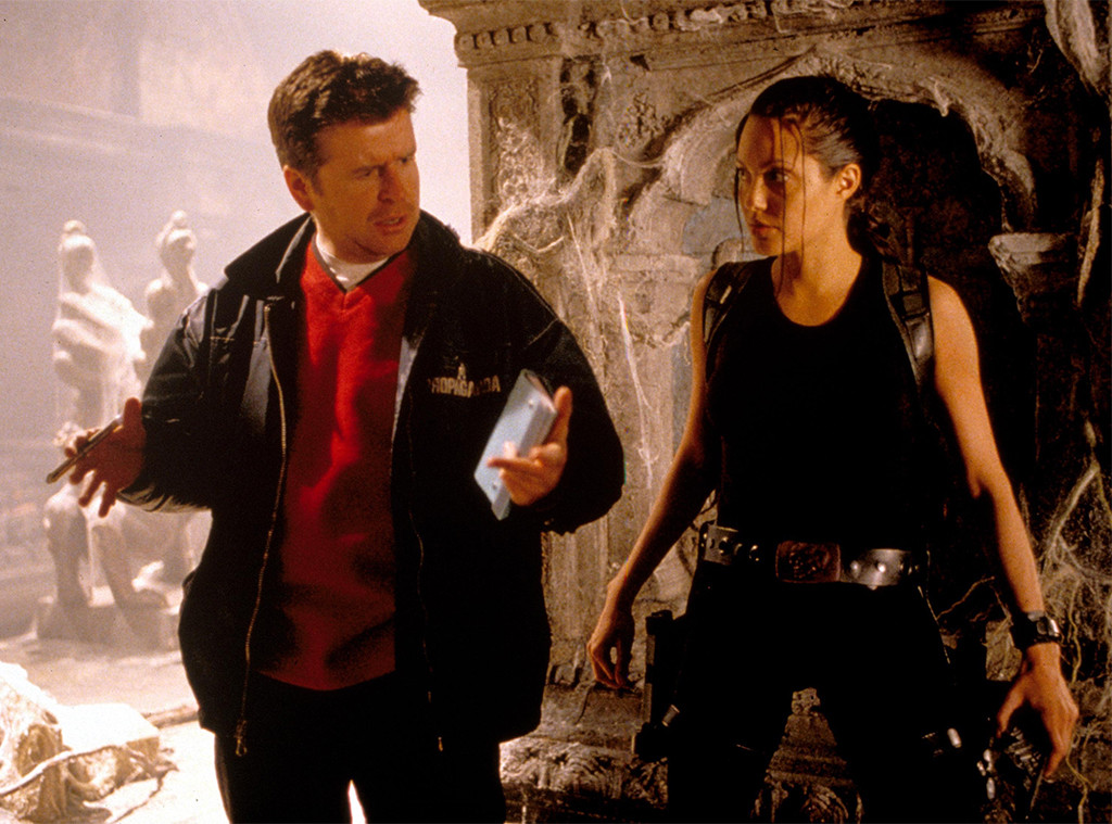 Lara Croft Tomb Raider, Angelina Jolie On Set