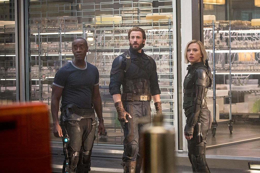 Avengers: Infinity War, Don Cheadle, Chris Evans, Scarlett Johansson