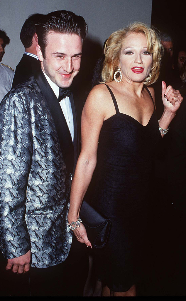 David Arquette and Ellen Barkin