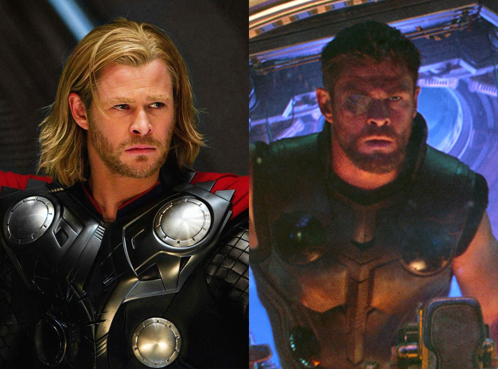 Chris Hemsworth, Thor, Avengers: Infinity War, Avengers Then and Now