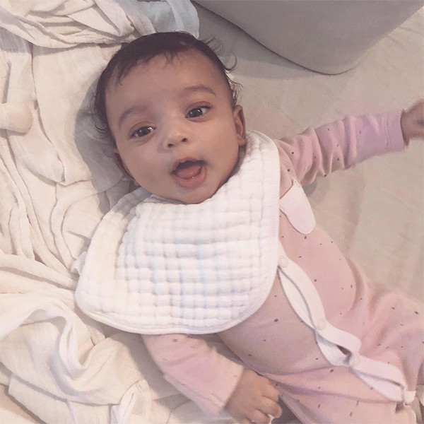 kim kardashian s baby girl chicago west is pretty in pink in new
