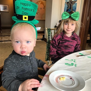 Pink, Carey Hart, Willow, Jameson, Kids, Son, Daughter, St Patrick's Day 2018