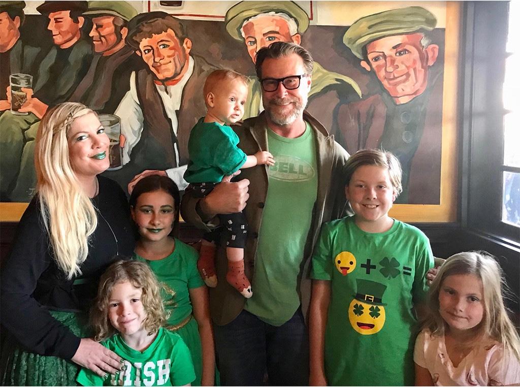 Tori Spelling, Dean McDermott, Kids, St Patrick's Day 2018