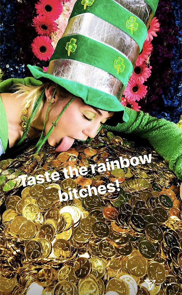 Miley Cyrus, St Patrick's Day 2018