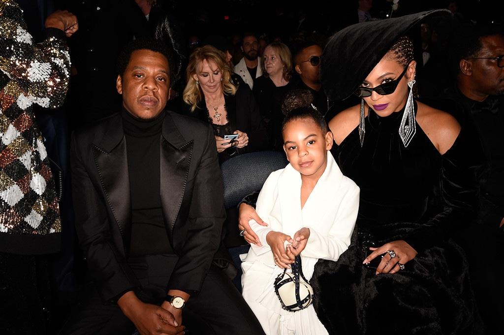 Jay-Z, Blue Ivy Carter, Beyonce, 2018 Grammys