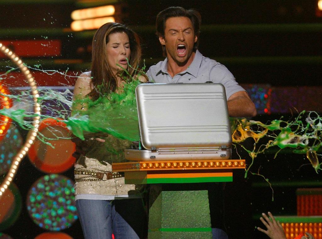 Sandra Bullock, Hugh Jackman, 2009 Kids Choice Awards, Show, Slime