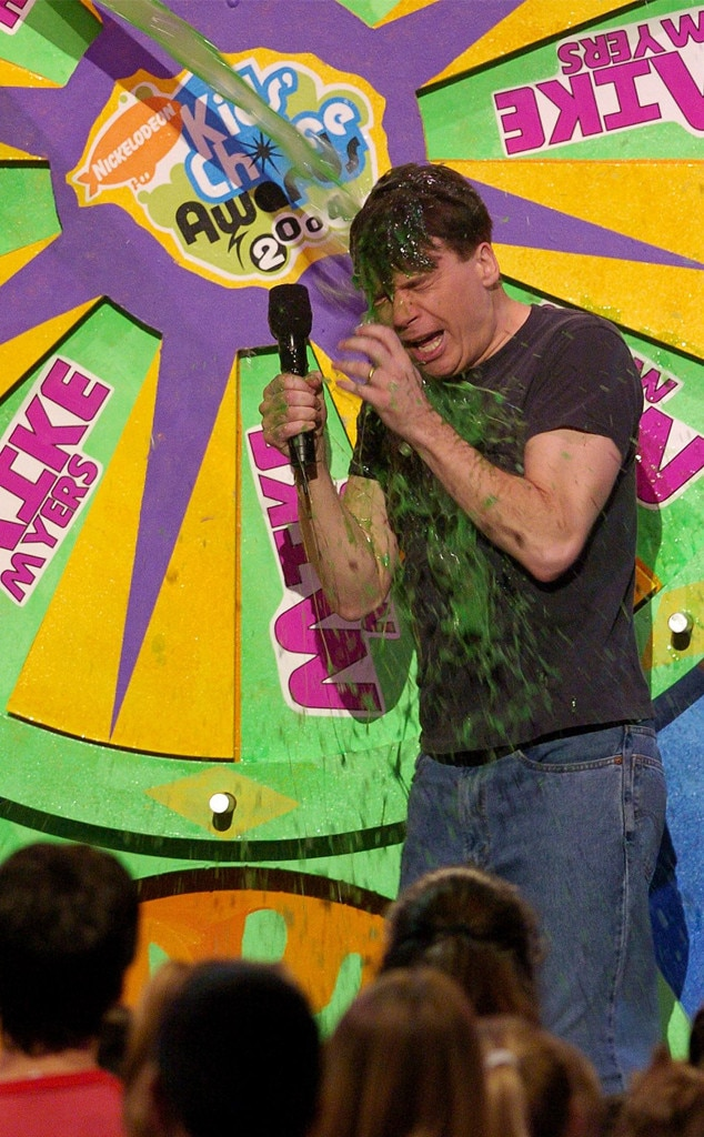 Mike Myers -  The comedian didn't know what he had coming when he got slimed in 2004.