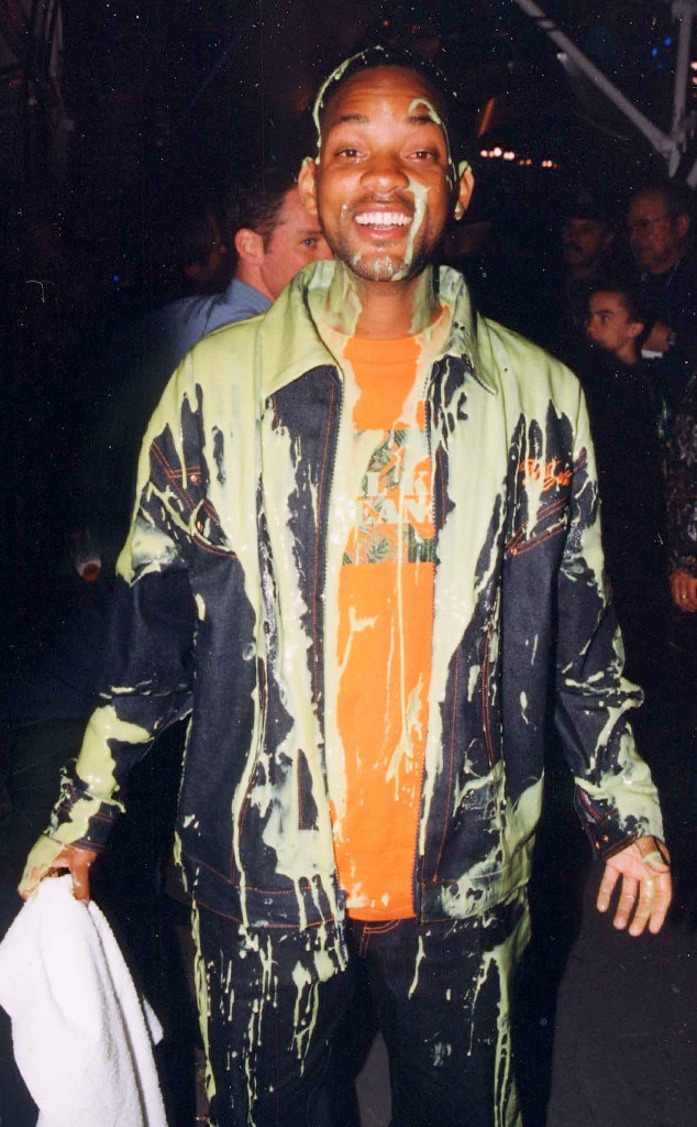 Will Smith -  The Fresh Prince was freshly coated in slime in 2000.