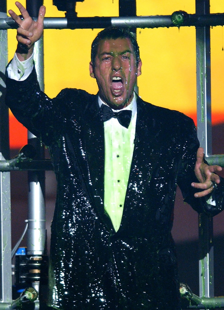 Adam Sandler -  The funny man took the slime in stride back in 2002.