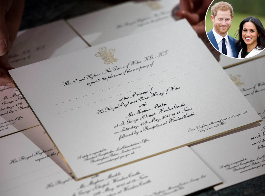 Prince Harry, Meghan Markle, Wedding Invitation