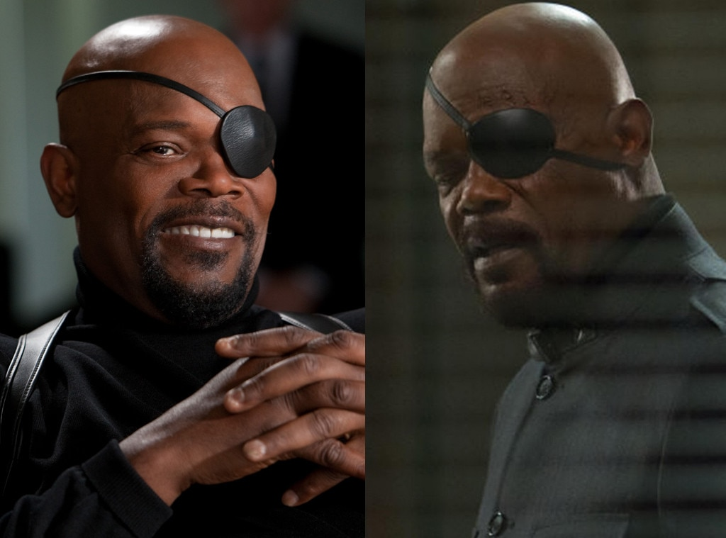 Samuel L. Jackson, Nick Fury, Avengers Then and Now