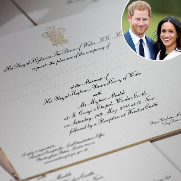 Prince Harry, Meghan Markle, Wedding Invitation